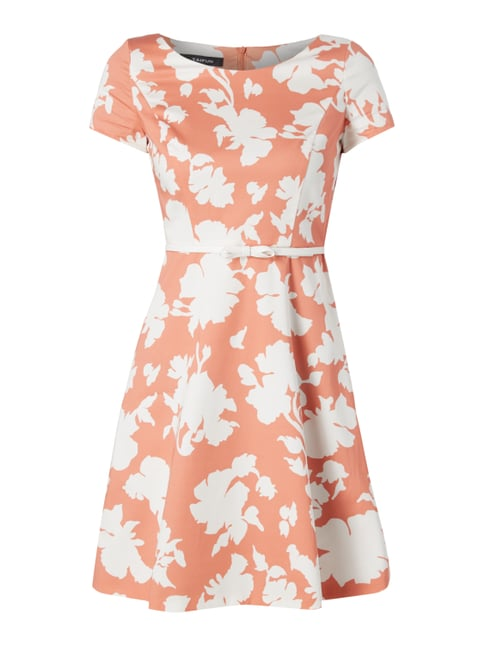 Kleid mit floralem Muster Orange - 1