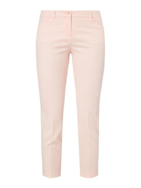 Skinny Fit Stoffhose mit Webmuster Rosé - 1
