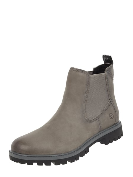 check out a22ac bad23 Tamaris – Chelsea Boots aus Leder – Anthrazit