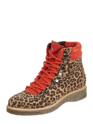 on sale 38f49 4a0fe Tamaris Lederboots mit Leopardenmuster