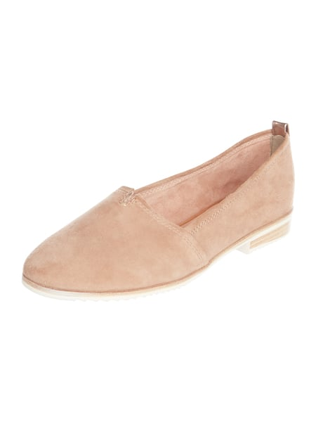 Tamaris Loafer aus Veloursleder Sand