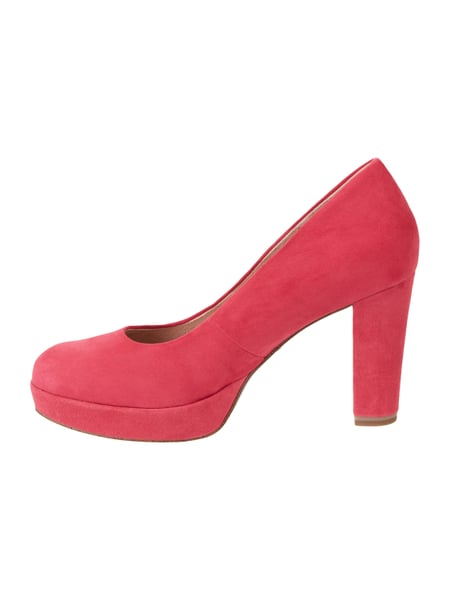 Tamaris – Pumps aus Veloursleder – Fuchsia