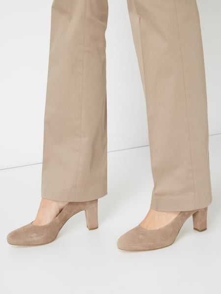 Tamaris Pumps aus Veloursleder Taupe