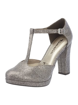 Pumps in Metallicoptik Grau / Schwarz - 1