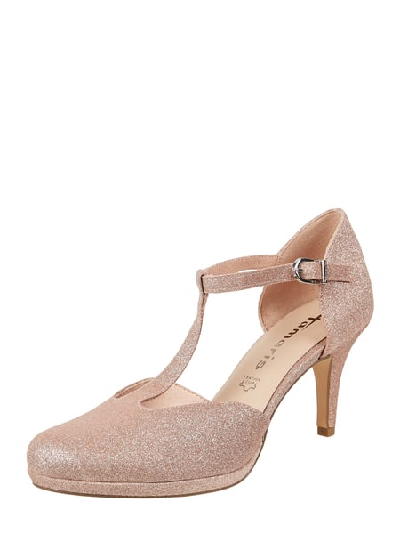 Tamaris Pumps mit Glitter-Effekt Gold - 1