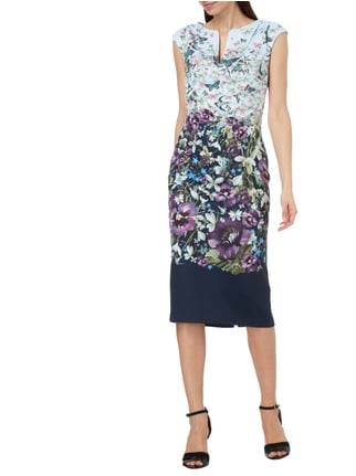 Ted Baker Kleid mit Allover-Muster in Blau / Türkis - 1