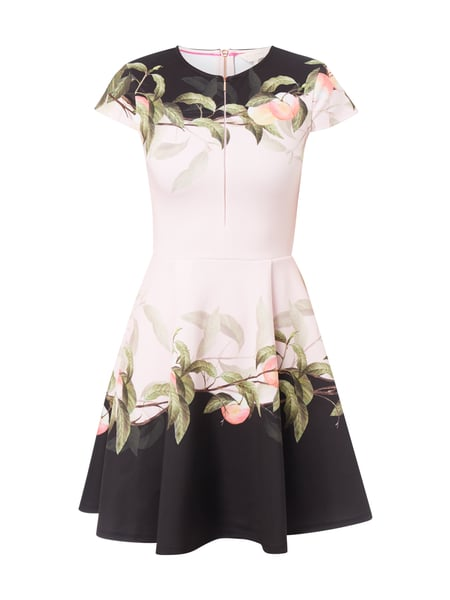 Ted Baker Kleid mit Allover-Muster Rosa
