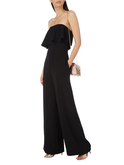 Ted Baker Off Shoulder Jumpsuit aus Krepp in Grau / Schwarz - 1