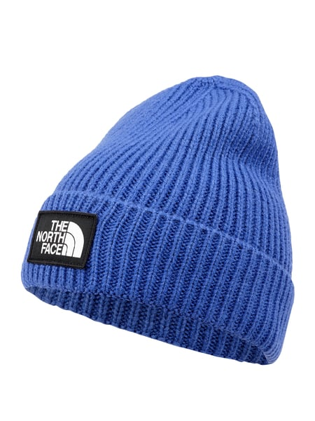 The North Face Beanie mit Logo-Aufnäher Blau - 1