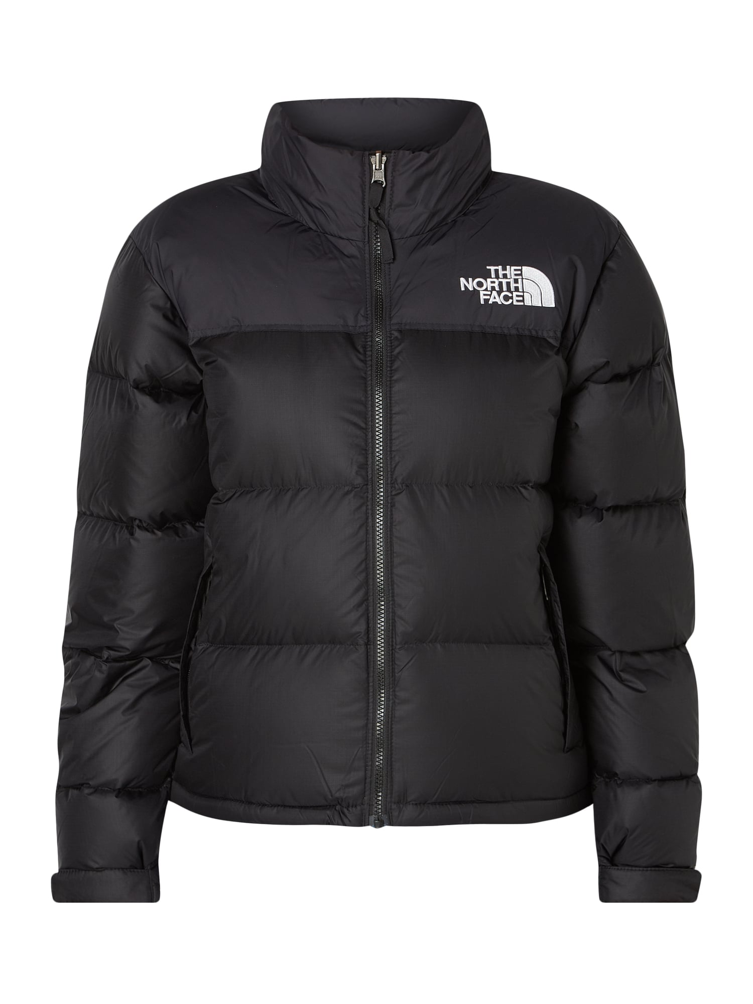 The North Face Daunenjacke Mit Logo Stickerei In Grau