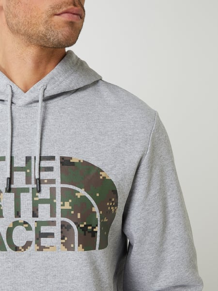 THE NORTH FACE HOODIE WITH LOGO MAXI PRINT Man White Black