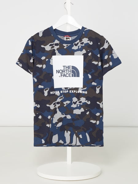 The North Face T-Shirt mit Logo-Print Türkis - 1