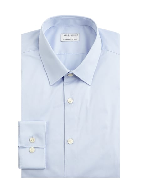 Tiger Of Sweden Super Slim Fit Business-Hemd mit Stretch-Anteil Blau - 1