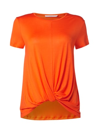 T-Shirt aus Lyocell mit Saum in Knotenoptik Orange - 1