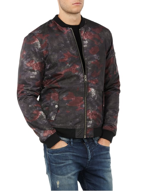 Tigha Bomber mit Camouflagemuster Bordeaux Rot - 1