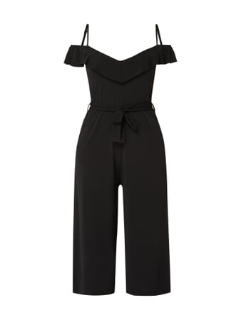 Tigha Cold-Shoulder Jumpsuit mit Volants Schwarz - 1