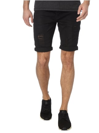 Tigha Destroyed Look 5-Pocket-Jeansbermudas Schwarz - 1