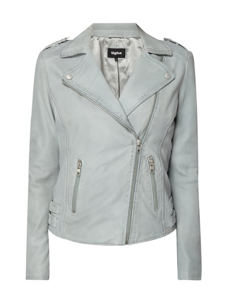 Tigha Lederjacke im Biker-Look Mint