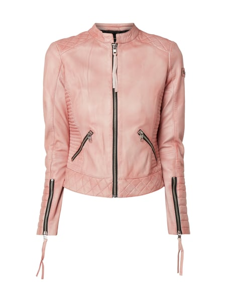 sports shoes a0560 308ed Tigha – Lederjacke im Biker-Look – Rosa