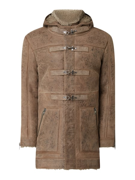 Tigha Ledermantel aus Shearling Modell 'Forest' Beige - 1