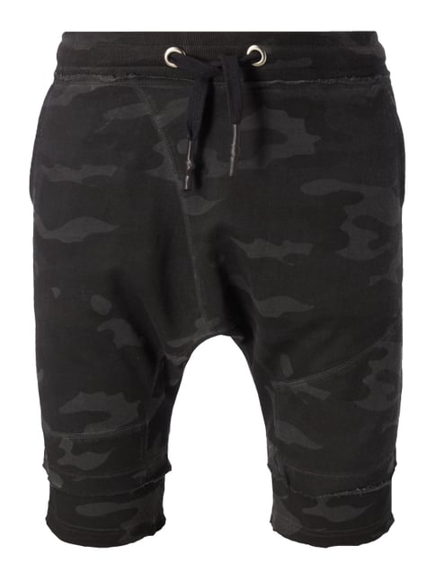 Low Crutch Sweatpants mit Camouflage-Muster Grün - 1