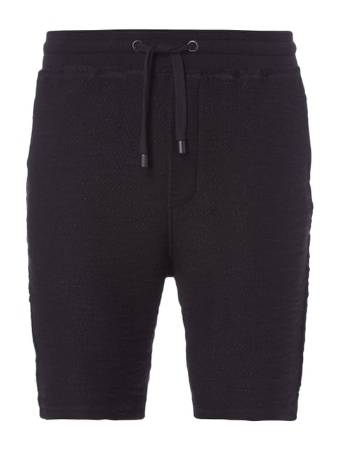 Sweatshorts im Inside-Out-Look Grau / Schwarz - 1