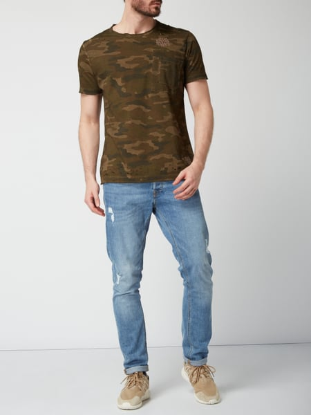 TIGHA T-Shirt im Destroyed Look in Grün online kaufen ...