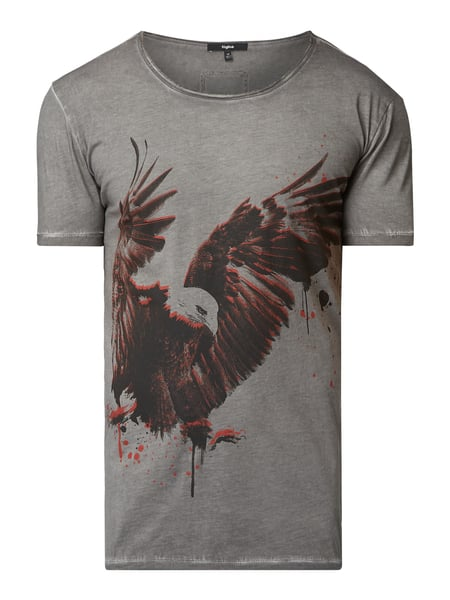 Tigha T-Shirt im Washed Out Look Grau - 1
