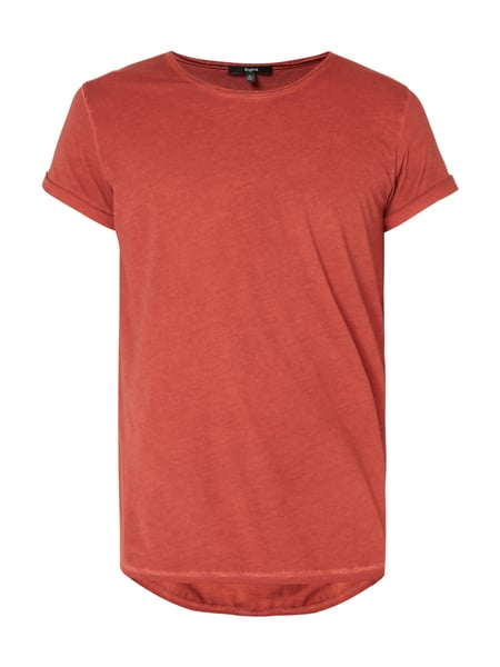 Tigha T-Shirt im Washed Out Look Bordeaux Rot