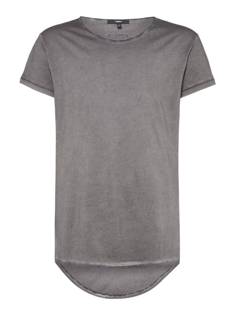 1f221a54d81212 Tigha Vokuhila T-Shirt im Washed Out Look Grau - 1 ...