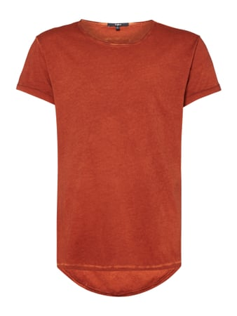 Vokuhila T-Shirt im Washed Out Look Orange - 1