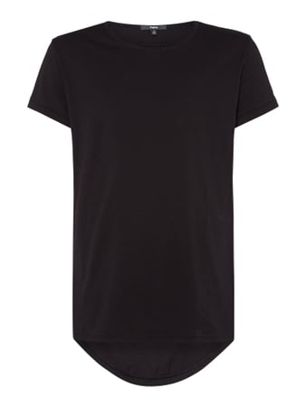 Tigha Vokuhila T-Shirt im Washed Out Look Schwarz - 1