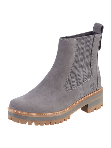 timberland chelsea boots aus leder mit blockabsatz in grau schwarz online kaufen 9695319 p c. Black Bedroom Furniture Sets. Home Design Ideas