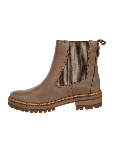 Timberland – Chelsea Boots aus Leder – Taupe