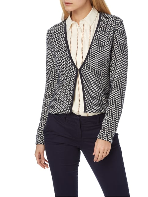 Tom Tailor Blazer mit Allover-Muster Marineblau - 1