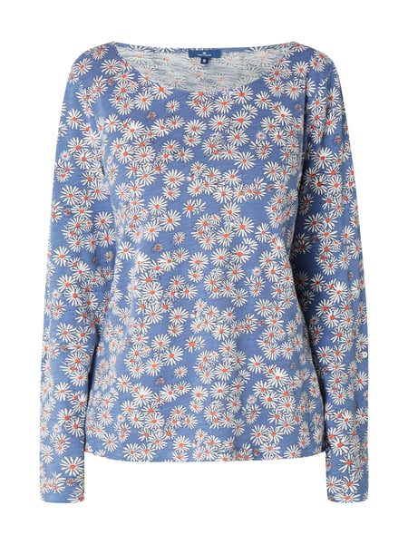 Tom Tailor Blusenshirt mit Allover-Muster Marineblau