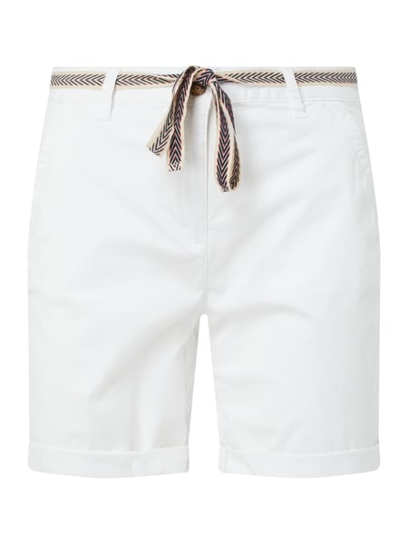 Tom Tailor Chino-Shorts mit Stretch-Anteil Weiß - 1