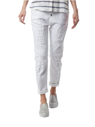 Tom Tailor Denim Anti Fit Jeans im Destroyed Look Weiß - 1