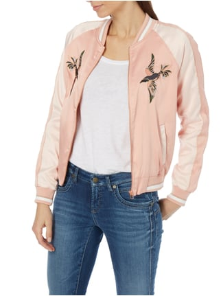 Tom Tailor Denim Bomber aus Satin mit Stickereien Rosé - 1