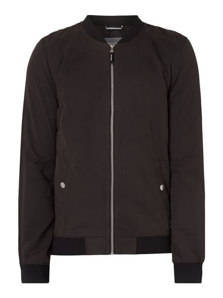 Tom Tailor Denim Bomber im Washed Out Look Schwarz
