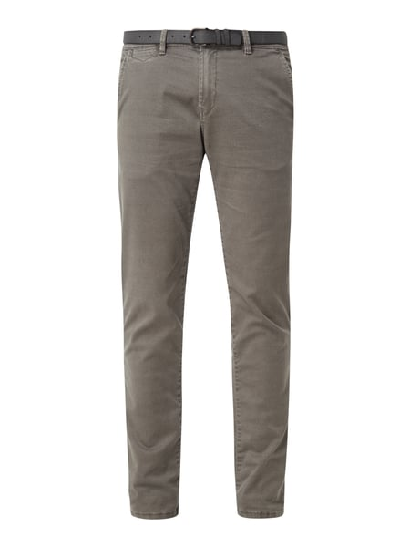 Tom Tailor Denim Chino mit Gürtel Anthrazit