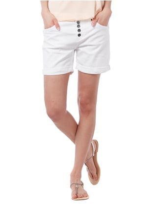 Tom Tailor Denim Coloured Jeansshorts mit Knopfleiste Weiß - 1