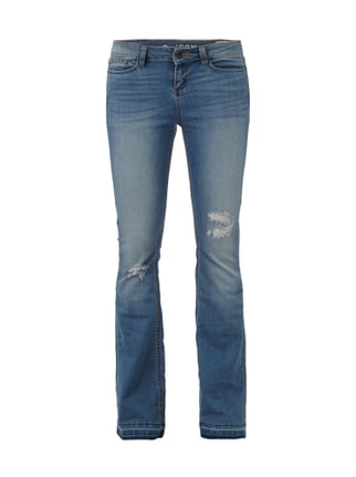 Flared Cut Jeans im Destroyed Look Blau / Türkis - 1