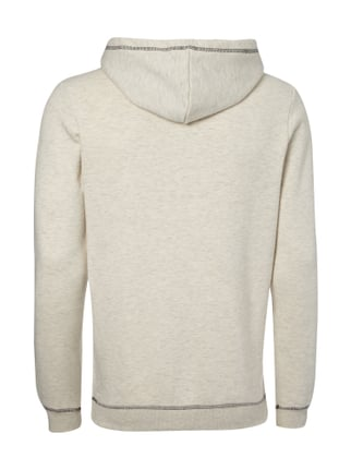 Tom Tailor Denim Hoodie mit großem Message-Print Offwhite meliert - 1