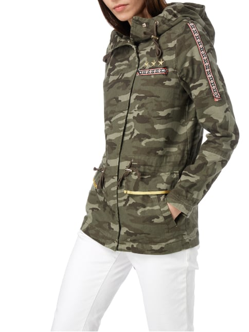 Tom Tailor Denim Jacke im Military-Look mit Ethno-Details Khaki - 1
