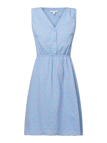Tom Tailor Denim Kleid mit strukturiertem Muster Blau - 1