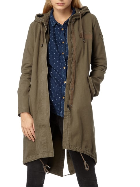 Tom Tailor Denim Parka mit Kapuze Khaki - 1