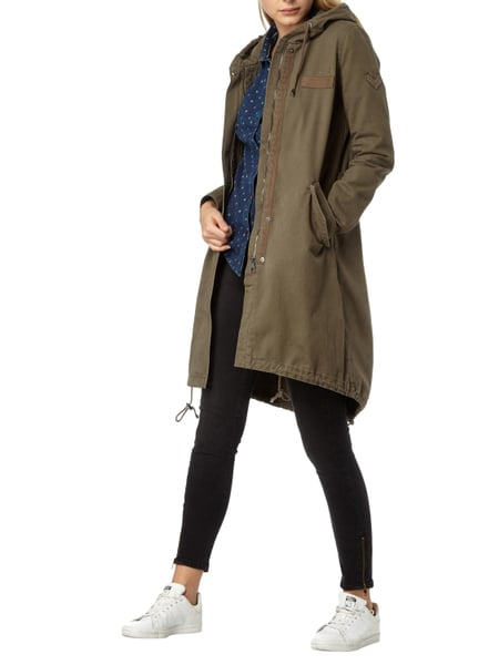 newest aa726 5405c TOM-TAILOR-DENIM Parka mit Kapuze in Grün online kaufen ...