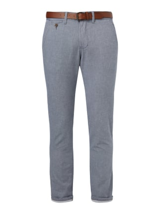 Regular Fit Chino inklusive Gürtel Blau / Türkis - 1