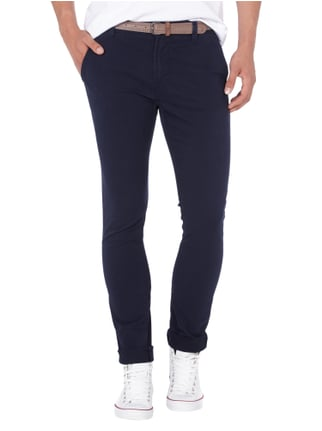 Tom Tailor Denim Skinny Fit Chino mit Gürtel Blau - 1